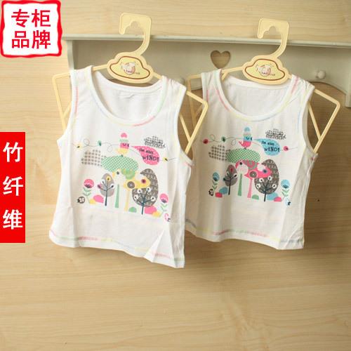 Bamboo fibre baby summer newborn clothes child sleeveless spaghetti strap top baby vest 82320