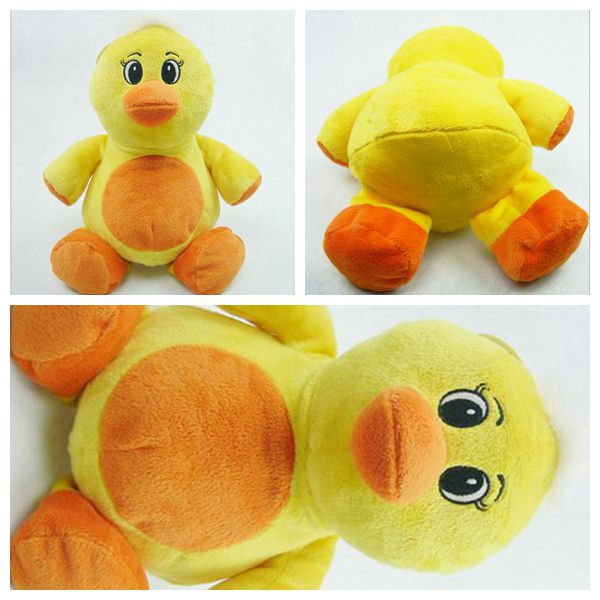 Free Shipping hot sale high quality stuffed plush toy yellow duck soft toy 24cm cute duck toy pp cotton and super plush stuff(China (Mainland))