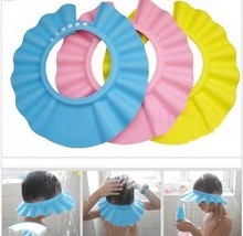 Safe Shampoo baby Shower Cap Bathing Bath Protect Soft Cap Hat For Baby Children Kids Gorro de ducha Tonsee(China (Mainland))