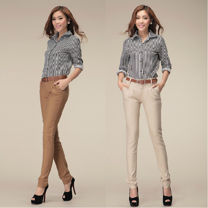 Luxury British Style Fashion Top Sale Plus Size Women Pants Spring Summer