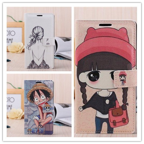 Huawei Honor 3X Case Fashion Cartoon Colored Drawing Mobile Phone Flip Stand PU Leather Cover - Livenus Store store