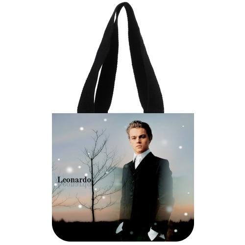 Nice Designed Canvas Tote Bag Custom Popular Star Leonardo DiCaprio Tote Bag 02(China (Mainland))