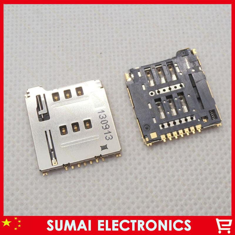 30pcs/lot Small 7P SIM Card Holder Socket Memory Card Connector Sim Card Slot
