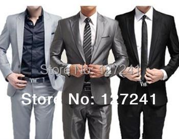 Мужчины в костюм! Бизнес свадьба мужчины в приталенный одежда, Костюм + брюки