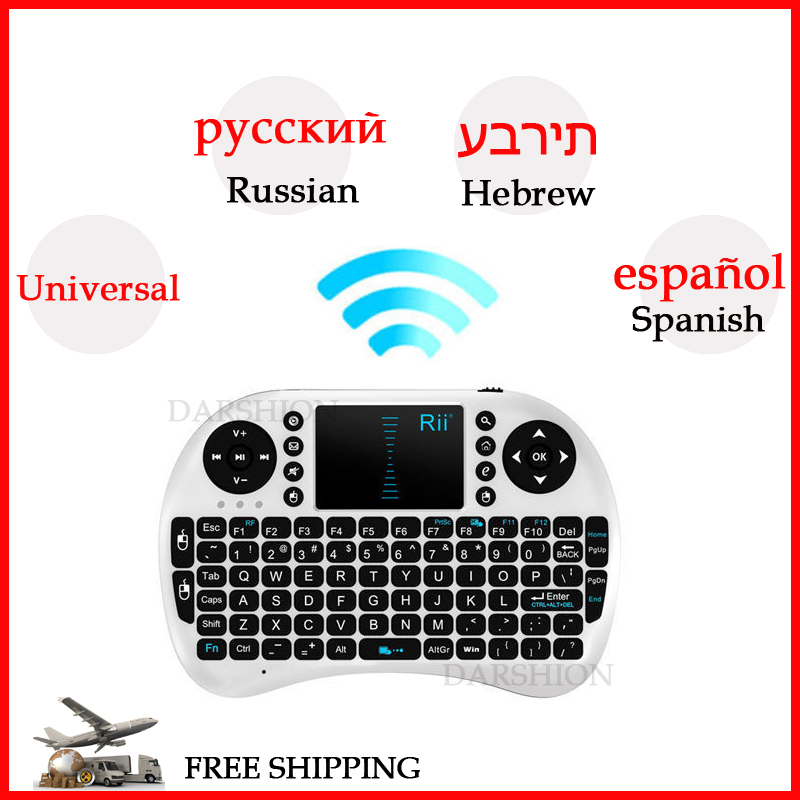 Mini wireless keyboard 2.4g touchpad small Spanish / Russian / Hebrew keyboard Phone/pad dedicated keyboard Lithium Battery(China (Mainland))