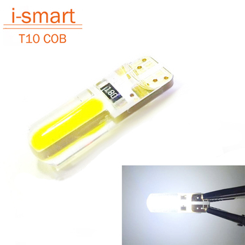 Newest T10 W5W LED car interior light cob cree marker lamps DC 12V reverse bulb  dome parking light canbus auto lada car styling