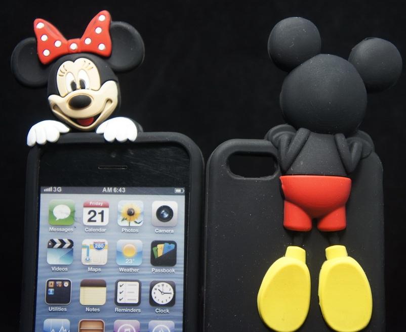 3Fashion 3D Cute Soft TPU Rubber Cartoon MIckey Minnie Mouse Ears Back Case Cover Celular iphone5 5s 6 plus Capa Para - TNTC Co., Ltd store