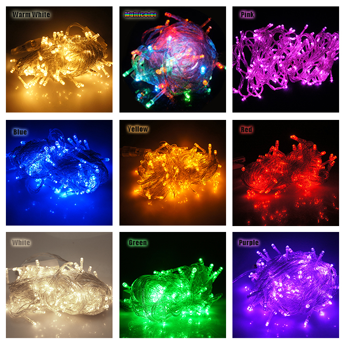 100 LED fairy string light 33 feet 8 working mode 110V AC for holiday wedding xmas celebration night decoration view(China (Mainland))