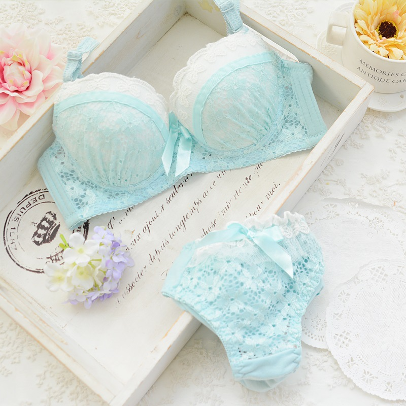 Beautiful Young Girls Bra Underwear Set Date Lace Lace Super Adorable Lattice Shop Must Have A Comfortable(China (Mainland))