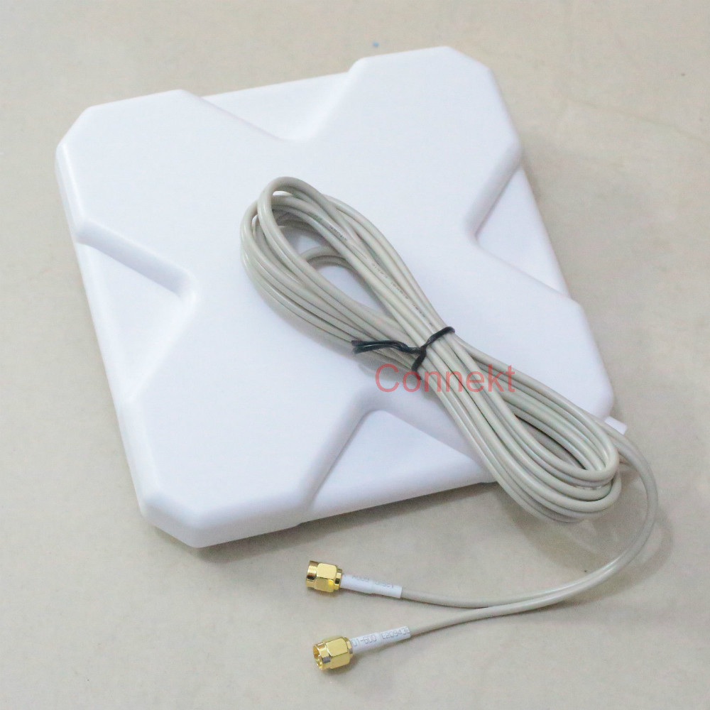 GPRS GSM 3G 4G LTE SMA plug 35dBi antenna 2M cable 791-2690MHz Booster Signal(China (Mainland))