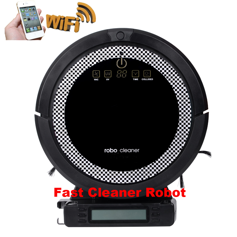 (Free to Australia)Lithium Battery WIFI Smartphone APP Control Auto Vacuum Cleaner Robot With Water Tank, Wet and Dry Mop(China (Mainland))