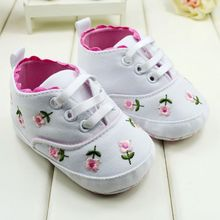 Baby Girl Shoes White Lace Embroidered Soft Shoes Prewalker Walking Toddler Shoes(China (Mainland))