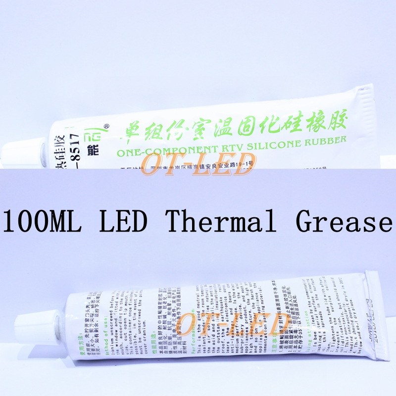 100ML Heat Conductive Grease Thermal Sticky Glue for CPU LED High Power Electrical Model with Heatsink Adhesive Joint Adhere(China (Mainland))