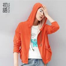 Toyouth  Autumn Women Casual Women Sweatershirt Long Sleeve Shirt Cotton Hoodies Coat Outerwear(China (Mainland))