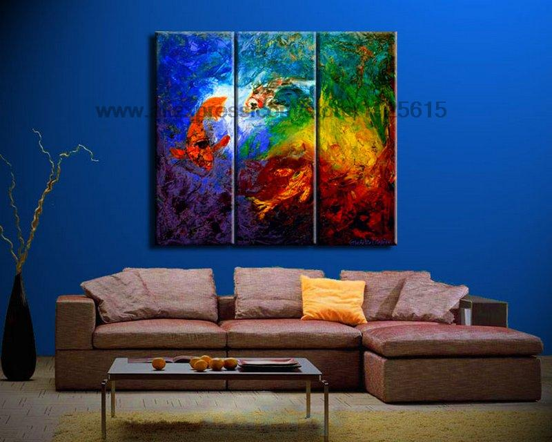 oil painting on canvas decorative acrylic wall panels 3 panel 3 pcs set wall art home decor wall. Black Bedroom Furniture Sets. Home Design Ideas