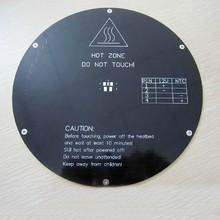 F10628-3  3pcs 3D printer Delta Rostock Round Hot Bed MK3 Reprap Standard 3mm+US free shipping