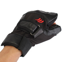 Men Weight lifting Gym Gloves Training Fitness Workout Sport Exercise Black