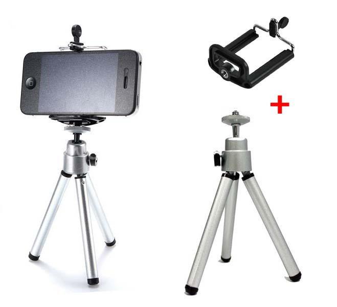 buy universal car mobile phone stand tripod clip holder mount bracket adapter. Black Bedroom Furniture Sets. Home Design Ideas