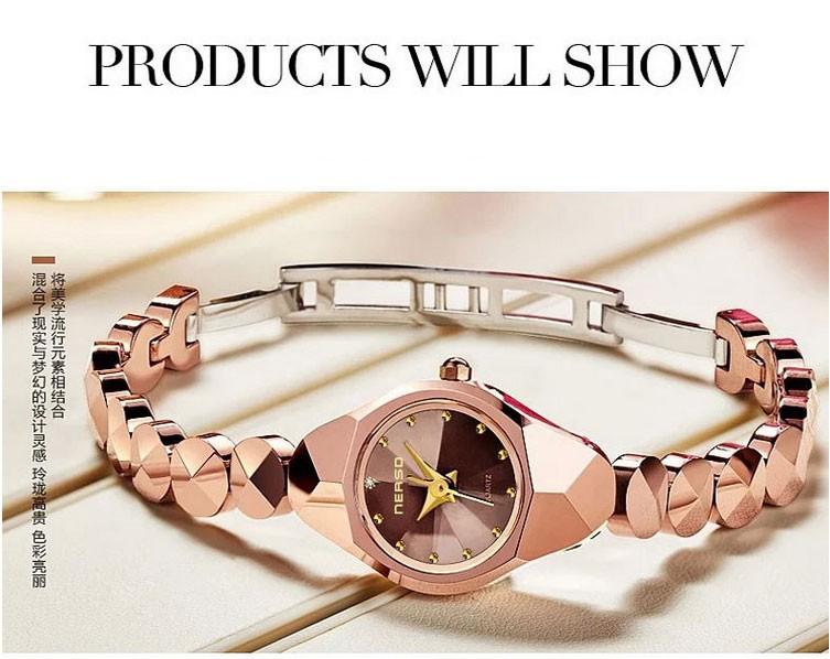 Мода Роскошные Женские часы Сапфировое стекло Кварцевые Часы Бесплатная Доставка