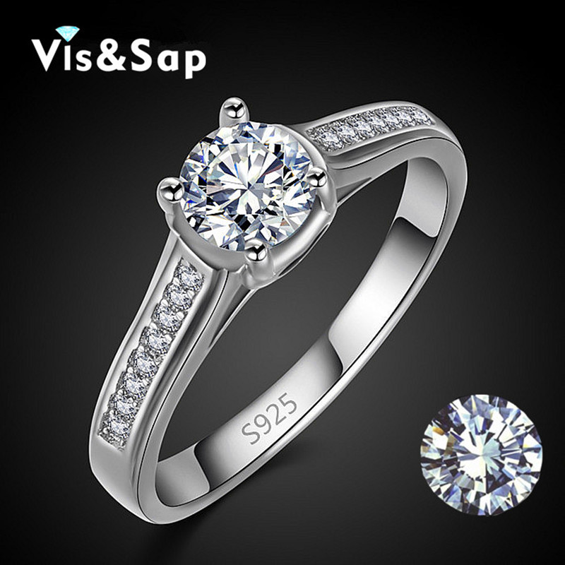 Euramerica style Rings For women Wedding engagement bague Silver plated rings AAA CZ diamond Bijoux fashion jewelry VSR004(China (Mainland))