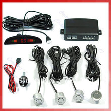 Free Shipping 4-Sensor LED Display Reversing Reverse Car Parking