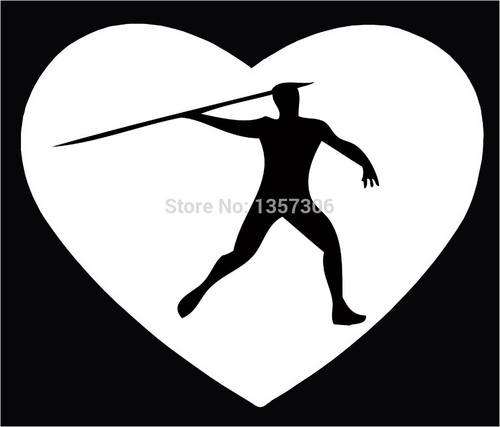 Cool Graphical Track & Field Javelin Throw Car Window Sticker Truck Bumper Auto SUV Door Vinyl Decal 9 Colors(China (Mainland))