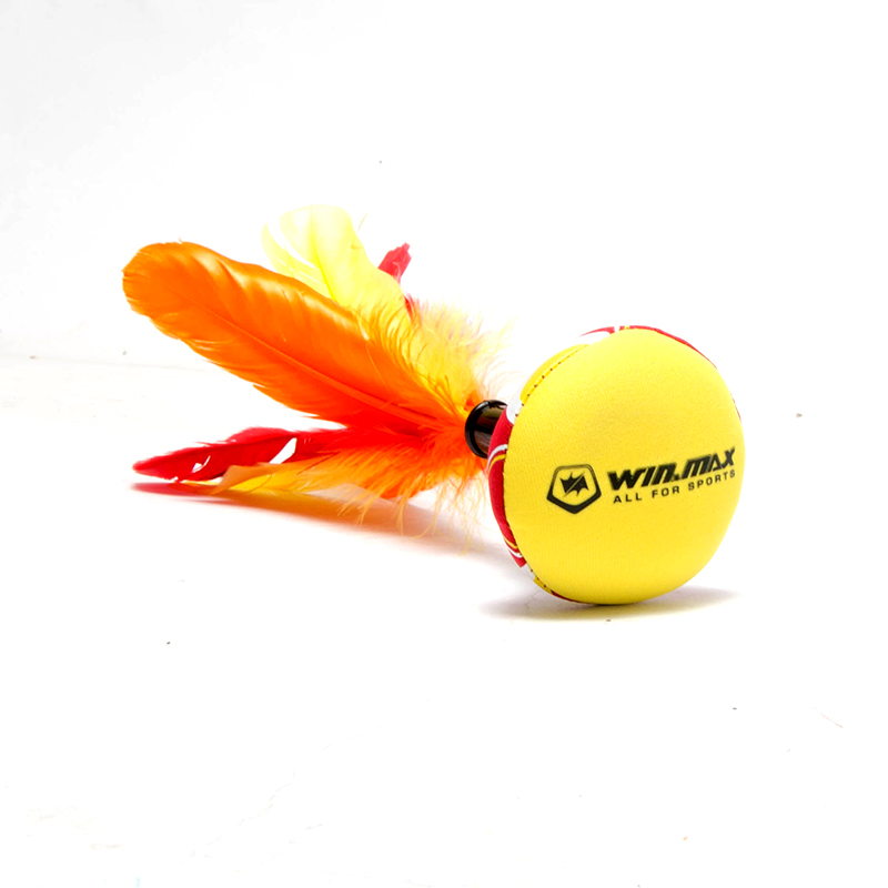Free shipping high quality Winmax New Neoprene Beach Entertainment Hand Indiaca Featherball Shuttlecock for Fun Indiaca Peteca(China (Mainland))