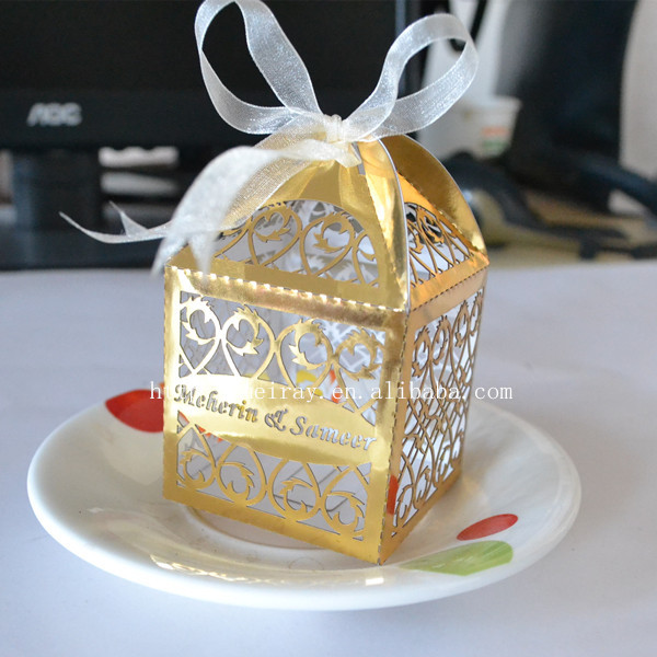 Personalized Party Favor Boxes Birthday : Aliexpress buy laser cut favor boxes wedding