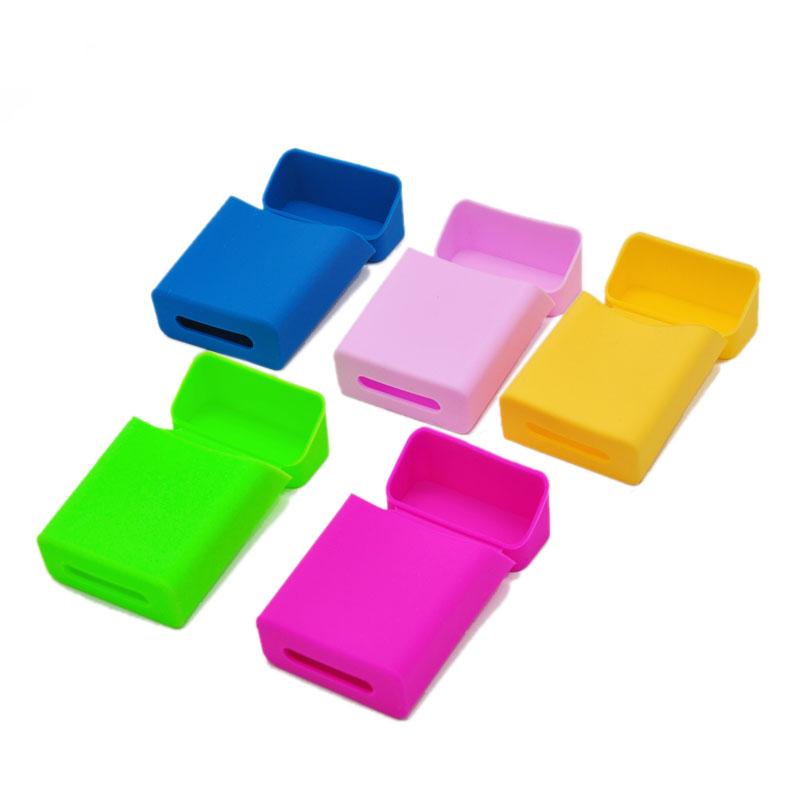 1 X Colorful Silicone Cigarette Case Cover 90mm*58mm*25mm Fashion Elastic Silicone Cover Portable Man/Woman Cigarette Silicone(China (Mainland))