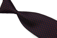 NT0464 Checks Black Red Classic Silk Polyester Blend Smooth Man s Casual Jacquard Woven Necktie Business