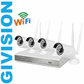 4CH cctv security wireless ip camera nvr system 720P HD outdoor ir night vision wifi ip