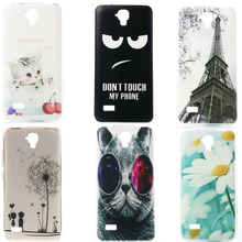 Hot Selling Soft Silicone phone Protective Case Huawei Y560 Y5 Y560-L01 4.5 Half Clear Crystal TPU Back cover Etui Wolf cat - Can Tracking Registered Air Mail store