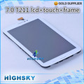 1 piece free shipping high quality white new replacement assembly for Samsung galaxy tab 3 7