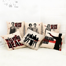 Without the core The Walking Dead Nap Cushion Cars Home Lumbar Pad Pillow Cover Hold Pillow Kids Toys(China (Mainland))
