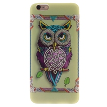 For Iphone 6 6s Cases 4.7 Inch Colorful Owl Soft TPU Phone Case Cover For Iphone 6 6s mobile phone shell