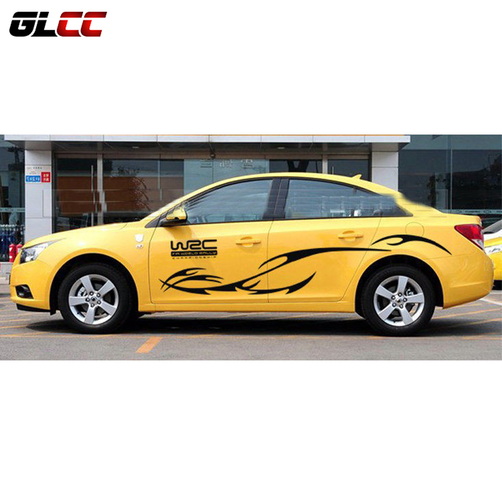 Sticker design for car online - Car Styling Kk Engine Hood Car Sticker Car Body Decals Stripes For Cruze Ford Running Sporting