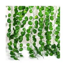 12Pcs Crabapple Leaf Fake Artificial Ivy Vine Home Wall Hanging Vine Decorative Foliage Flower Decor