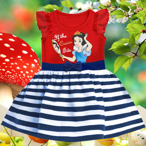 Details about Baby Girls Kids Clothes Summer Snow White Party Princess Dress 1-6Yrs(China (Mainland))