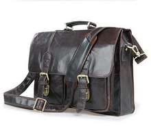 men's briefcase Genuine leather men bag man messenger bags business laptop briefcase leather men's travel bags new 2016(China (Mainland))