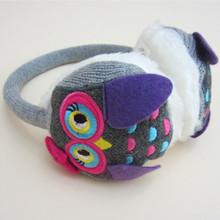 NEW 2016 new love owl cartoon children knitted plush earmuffs Winter Retail and wholesale Adjustable telescopic(China (Mainland))