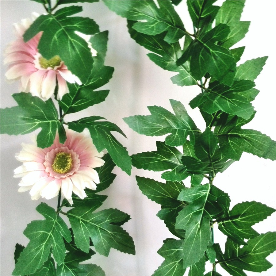 artificial silk chrysanthemum leaves, assemble garland by buyer. very easy !(China (Mainland))
