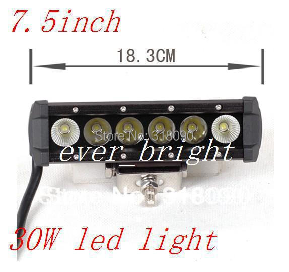 2pcs 7.5 INCH 6led 30W High intensity LED LIGHT BAR flood FOR OFF ROAD LED BAR IP67 4WD LED Driving LED WORK LIGHT BAR(China (Mainland))