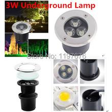 Llevó la lámpara subterráneo 3 W enterrado lámpara LED enterrada luz AC85-265V DC12V / 24 V blanco cálido / frío blanco / rojo / verde / azul / amarillo / RGB(China (Mainland))