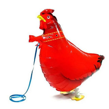 1Pcs/Lot, Free Shipping, Cock Pet Helium Walking Balloon, Baby Shower Foil Balloon, Party/Birthday/Wedding Decorations, Toys(China (Mainland))