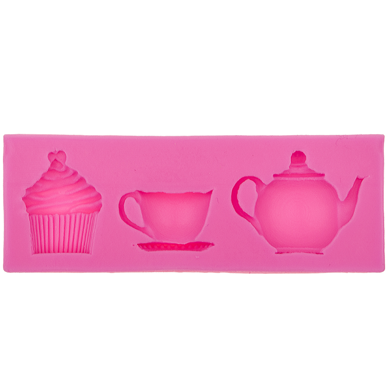teapot cup tea Chocolate Candy Jello 3D silicone Mold Mould Cartoon Figre/cake Decorating tools F0571(China (Mainland))