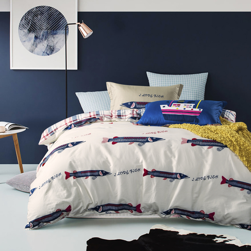 Fish bedding 28 images fish comforter reviews online for Fish bedding twin
