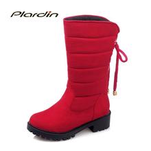 Plardin botines Bowtie lace up Mujeres Martin Botas de Invierno Botas de Nieve botas de Mujer Zapatos de las mujeres Más El tamaño de Las Mujeres 34-52(China (Mainland))