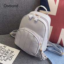 Buy Osmond Fashion Women Leather Backpacks School Bags Teenage Girl Tassel Plaid Mini Backpack Small Travel Pack Youth Back Pack for $15.89 in AliExpress store
