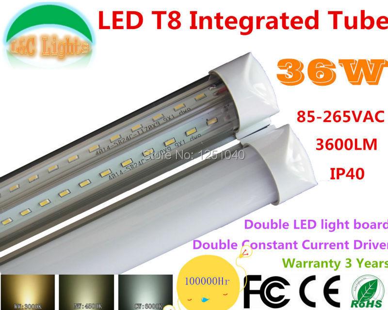 36W T8 LED Tubes L1200M 3600LM led lighting 240 LEDs SMD 4014 Edison indoor lighting CE &amp; ROHS AC85-265V Warrant 3 Years<br><br>Aliexpress