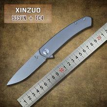 2015 nuevo diseño de acero S35VN balde cuchillo plegable con TC4 titanium mango cuchillos de caza de bolsillo que acampa al aire herramientas EDC